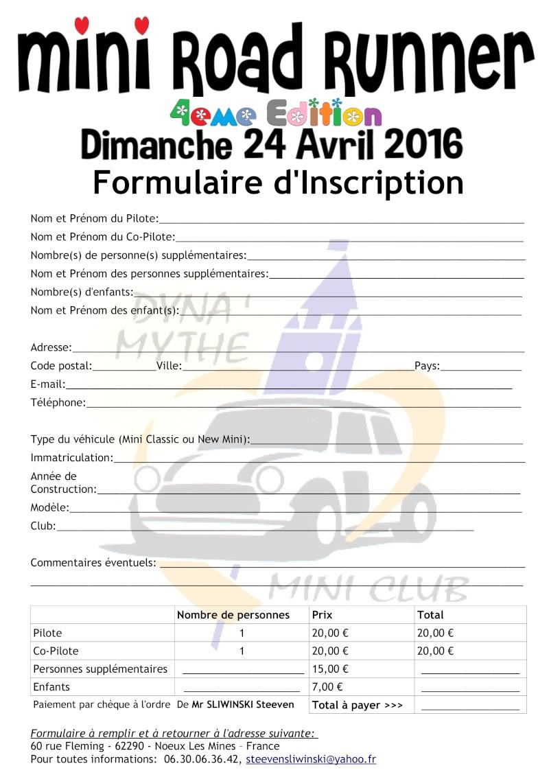 [MINI ROAD RUNNER] 4eme Edition - Avril 2016 - Béthune 62 Formul10