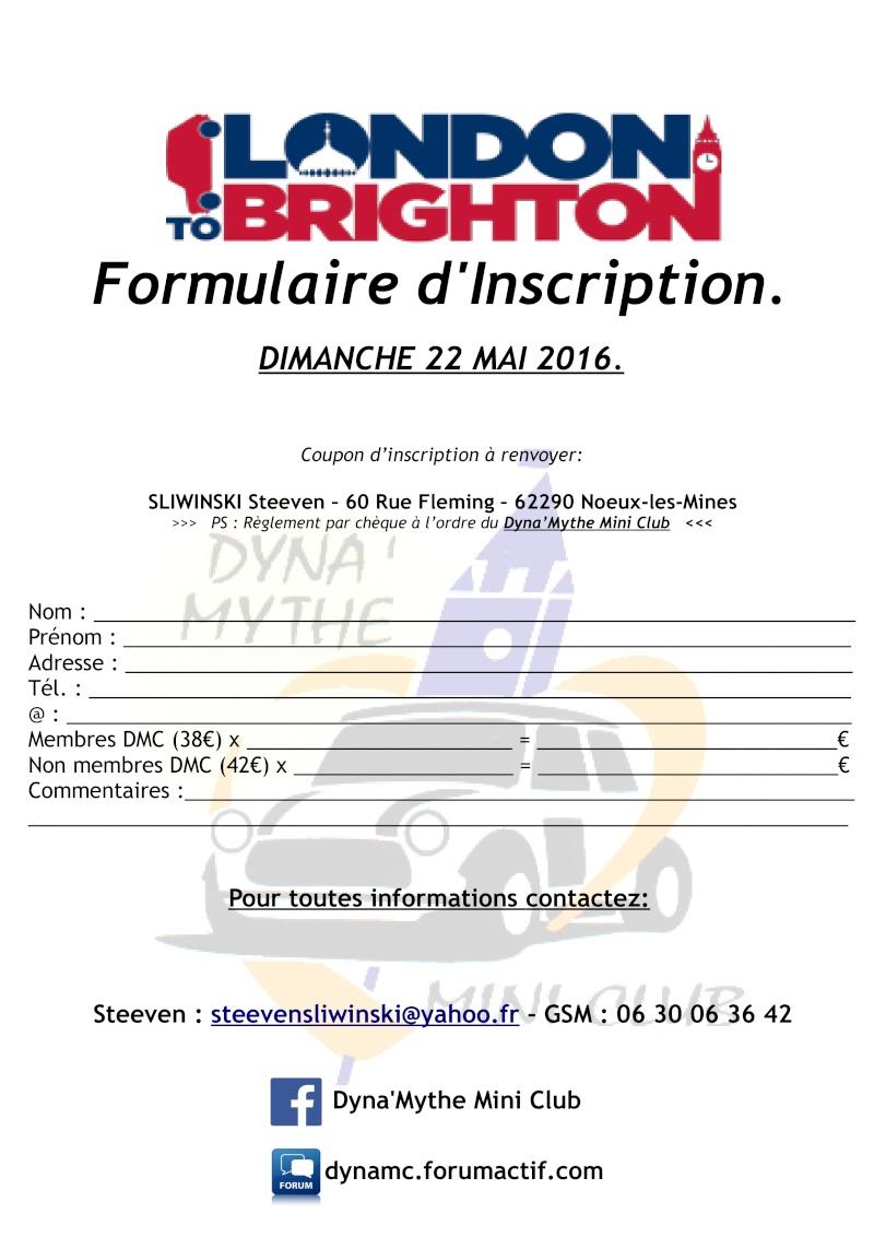 [LONDON TO BRIGHTON Mini Run] - 22 Mai 2016 - Déplacement Formul11