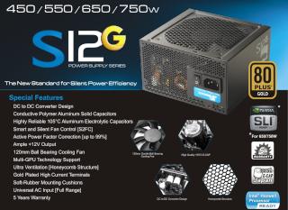 (Facebook) - Seasonic S12G 750W 80+ Gold  210