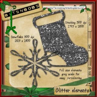 Christmas glitter elements - CU Bnb-ge12