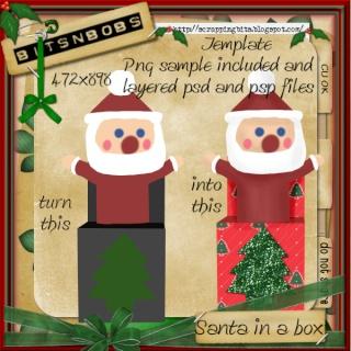 CU Santa in box template Bnb-sa10