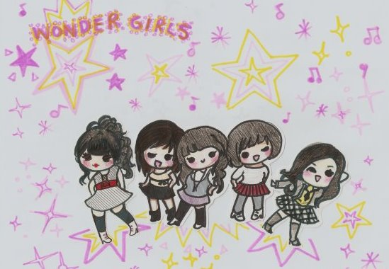 K-Pop Bands [[Fan Art]] Wonder11