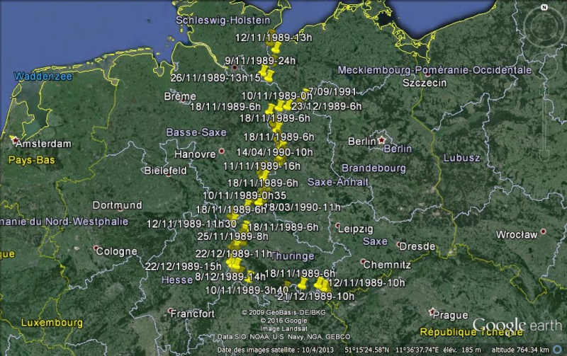 """Panneaux """"mémorial de la chute du rideau de fer entre les deux Allemagne (1393 km) """" Ouvert10"""