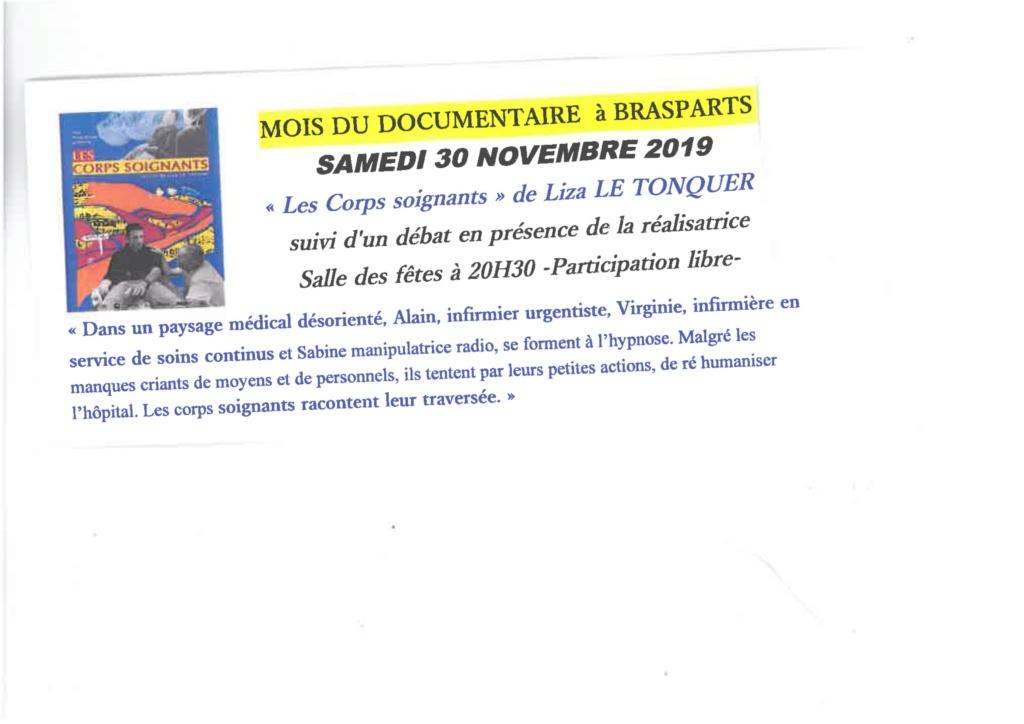 """Mois du documentaire """"les Corps soignants"""" de Liza LE TONQUER - Bibliothèque espace Frédéric Le Guyader - 20h30 0001110"""