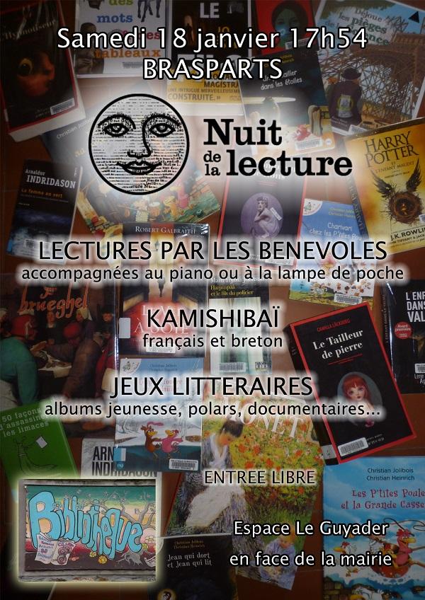 Samedi 18 Janvier 2020 : Nuit de la lecture  Affich19