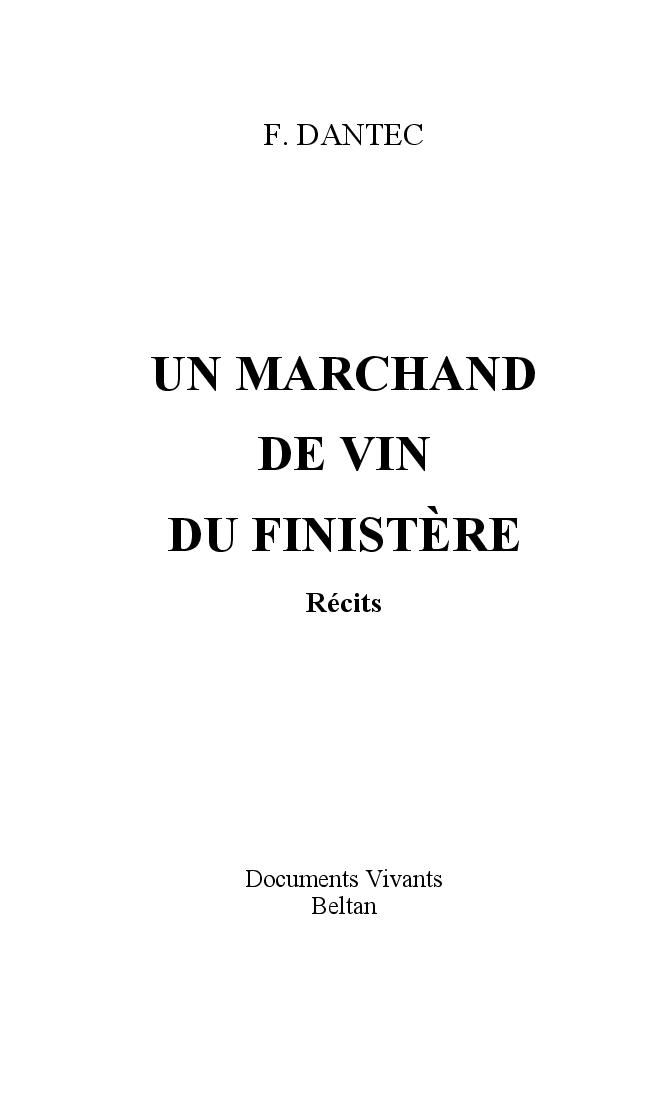 Un marchand de vin dans le Finistère de François Dantec Marcha10