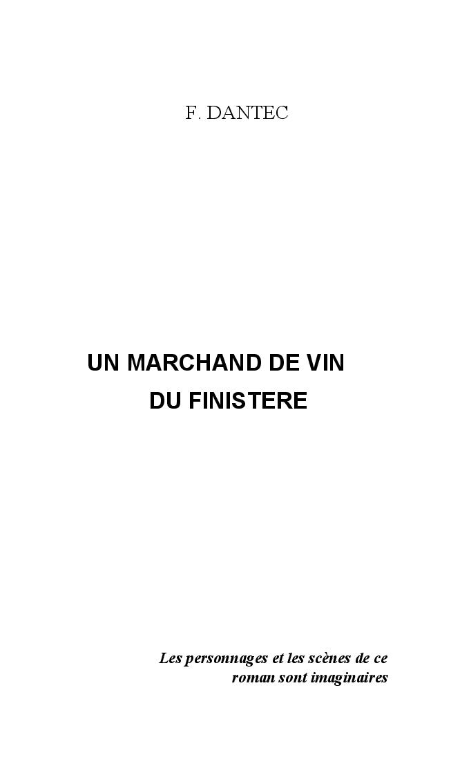 Un marchand de vin dans le Finistère de François Dantec Marcha11
