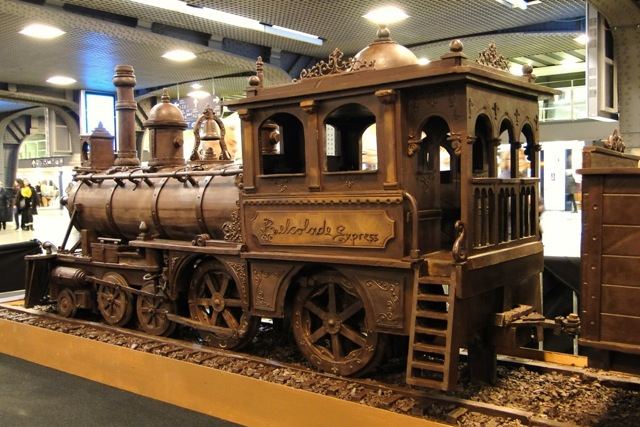 A train made entirely of chocolate Att00011