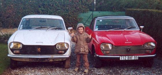 la Peugeot 204 cabriolet de ma femme 20410