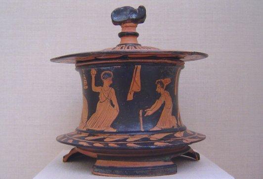 Tanagra (statuettes) Wjk10910