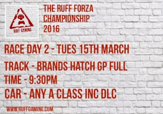The Ruff Forza Championship 2016 - Race Day 2 Rd210