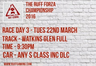 The Ruff Forza Championship 2016 - Race Day 3 Rd610