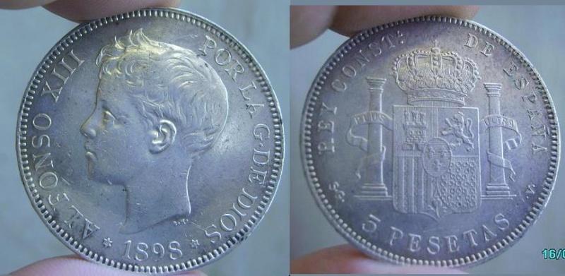 5 Pesetas de Alfonso XIII del 1898, Madrid Anvers66