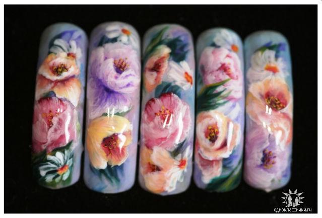 Фотографии интересных дизайнов ногтей 010