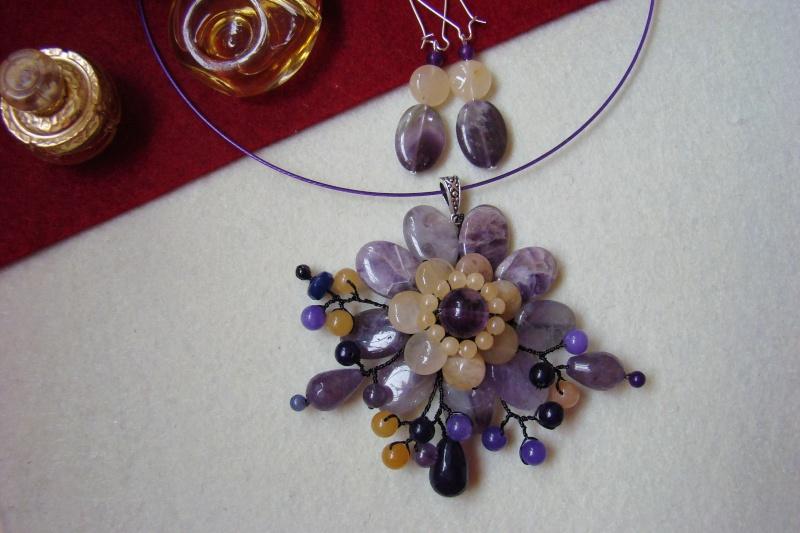 """""""Flori de piatră-Bijoux"""" albumul I-bijuterii artizanale marca Didina Sava - Pagina 6 Colier20"""