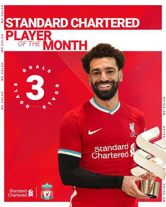 محمد صلاح فاز بجائزة ( لاعب الشهر ) Img_2414