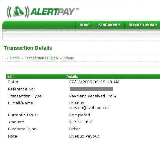 My second payment from LIVEBUX AS A PREMIUM MEMBER.SEE PAYMENT PROOF Lbpaym11