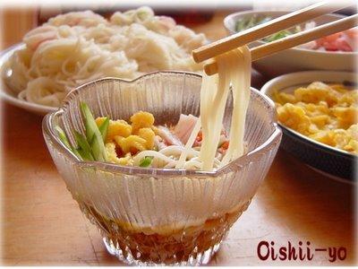 Món mỳ lạnk kụa kák pák Nhật Bản ạk :D Somen218