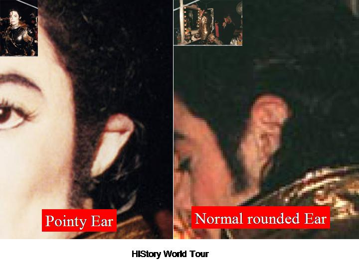 'Michael with the weird looking ear in 1996 Slide214