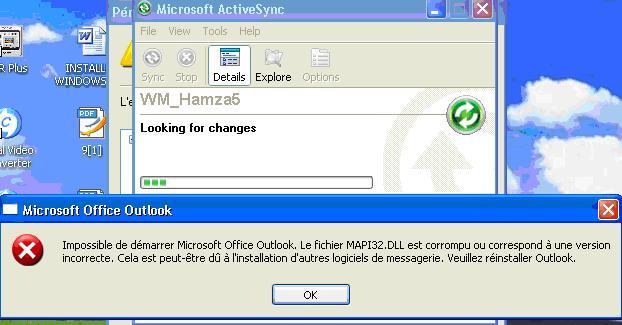 connection a internet de PDA Acer N35 111