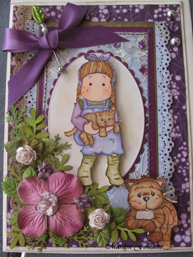 Cartes fait avec étampes magnolia 01011