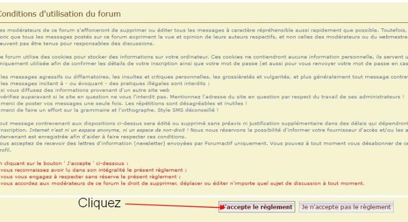 Pour vous inscrire au forum 210