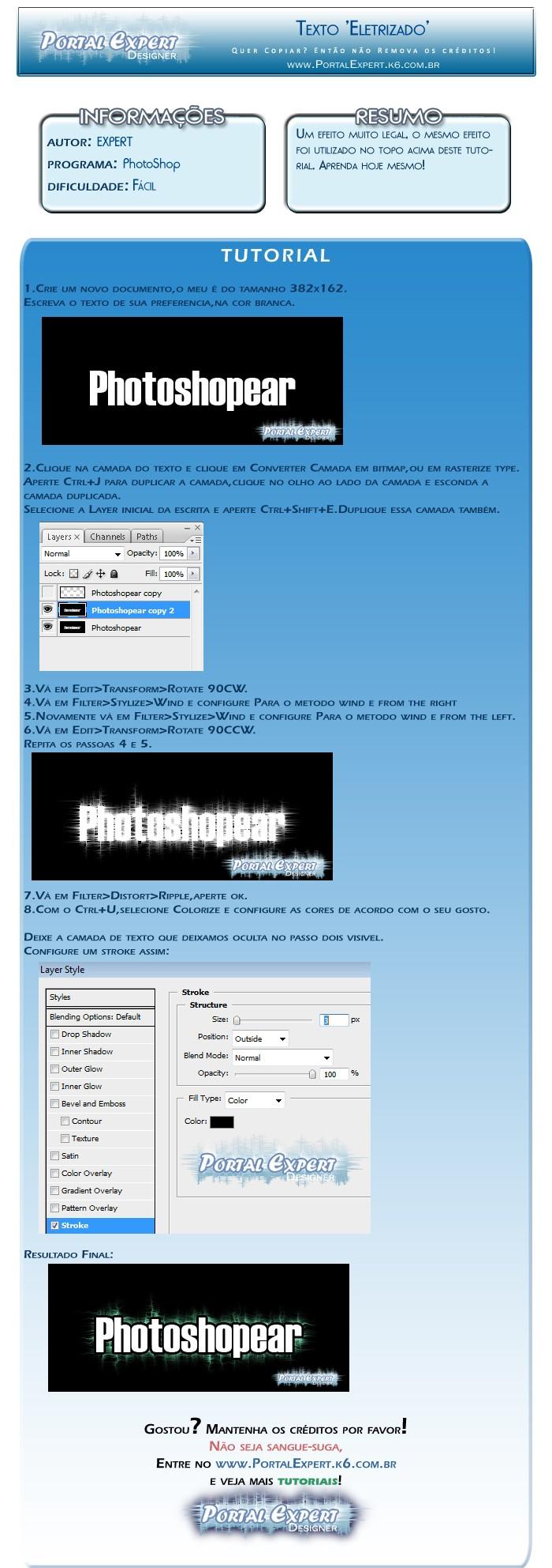 [Photoshop] Texto Eletrizado (iniciantes) Texto_10