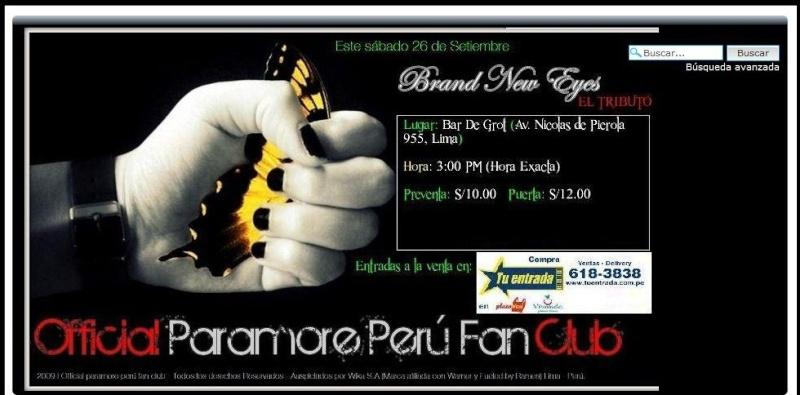 """ brand new eyes"" el tributo a PARAMORE Paramo10"
