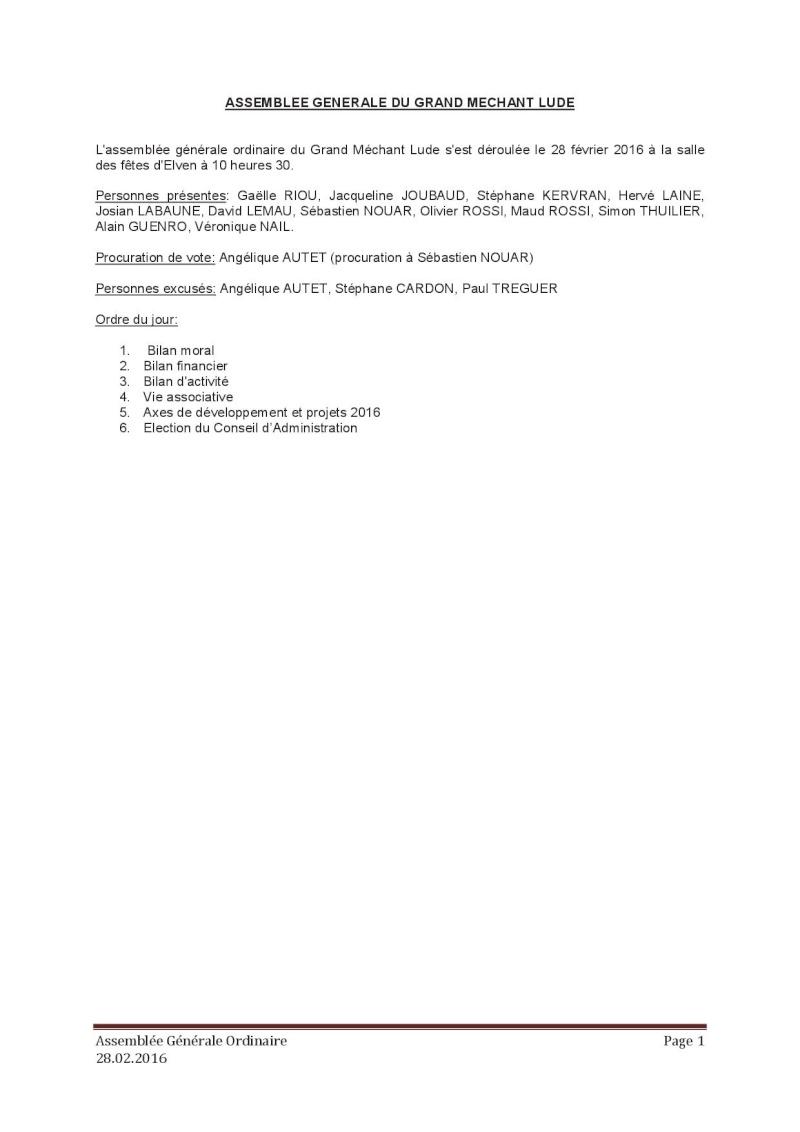 Assemblée générale ordinaire du 28 Février 2016 P110