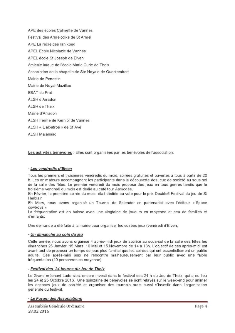 Assemblée générale ordinaire du 28 Février 2016 P410