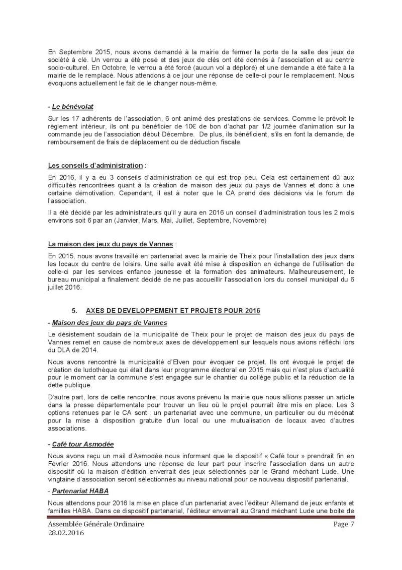 Assemblée générale ordinaire du 28 Février 2016 P710