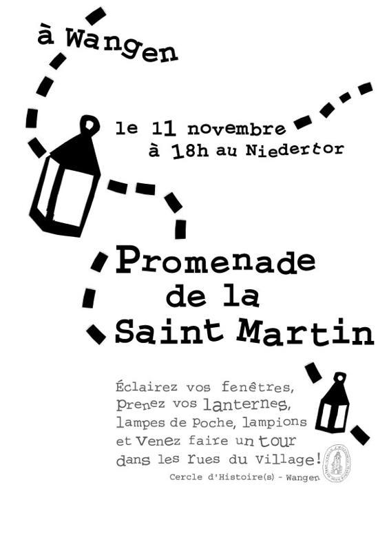 Promenade de la Saint Martin  le 11 novembre 2009 à Wangen Promen10
