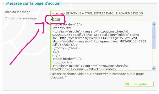 Editeur étendu (HTML) sur le panneau d'admin invisible sous Google Chrome Ie10