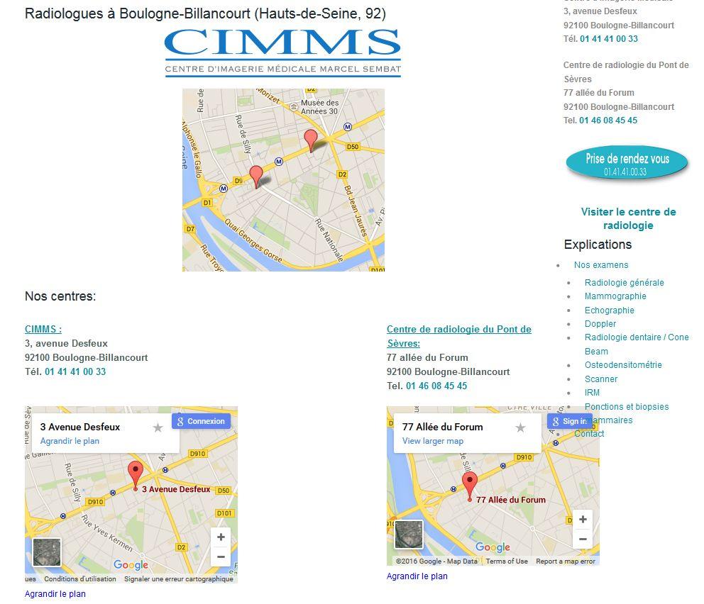 Institut de Radiologie - Centre d'Imagerie Médicale Marcel Sembat (CIMMS) Clipb127