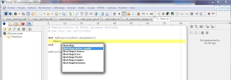 Éditeur de script pour SketchUp Autoco10