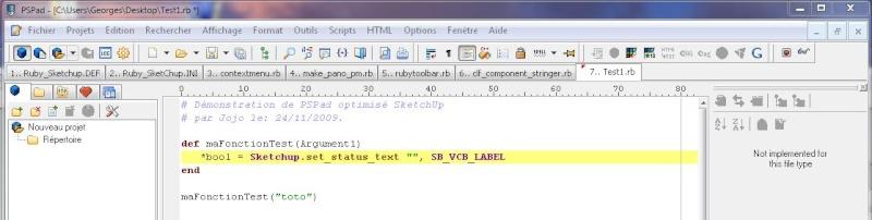 Éditeur de script pour SketchUp Script12