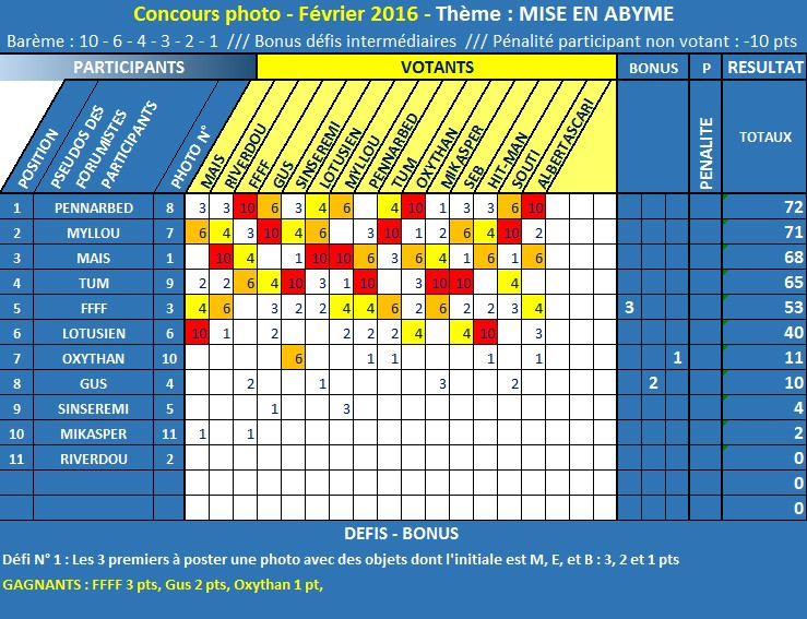 CONCOURS PHOTO FÉVRIER 2016 - MISE EN ABYME - BRAVO PENNARBED !  Classe11