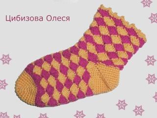Вязаные носки крючком Dscn4111