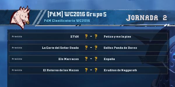 Copa del Mundo 2016 - Grupo 5 - Jornada 2 del 22 al 28 de Febrero Copa_d22