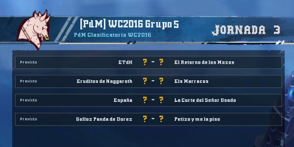 Copa del Mundo 2016 - Grupo 5 - Jornada 3 del 29 de Febrero al 6 de Marzo Copa_d23