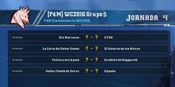 Copa del Mundo 2016 - Grupo 5 - Jornada 4 del 6 al 13 de Marzo Copa_d24