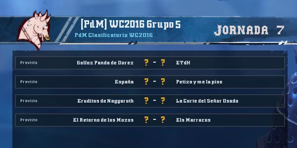 Copa del Mundo 2016 - Grupo 5 - Jornada 7 del 28 de Marzo al 3 de Abril Copa_d53