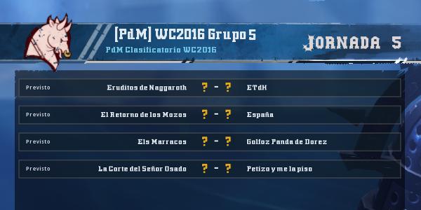 Copa del Mundo 2016 - Grupo 5 - Jornada 5 del 14 al 20 de Marzo Copa_d55