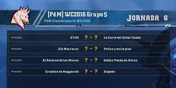Copa del Mundo 2016 - Grupo 5 - Jornada 6 del 21 al 27 de Marzo Copa_d56