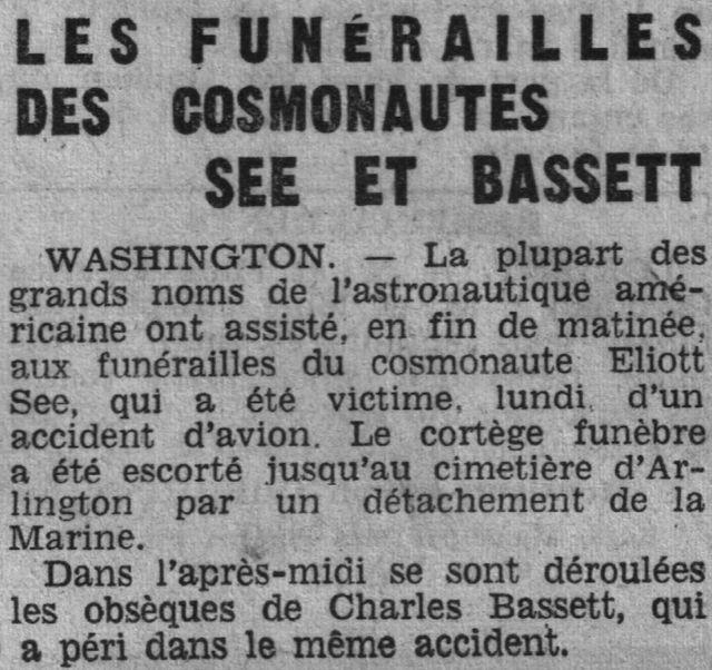 28 février 1966 décès de Charles Bassett et Elliot See 66030710