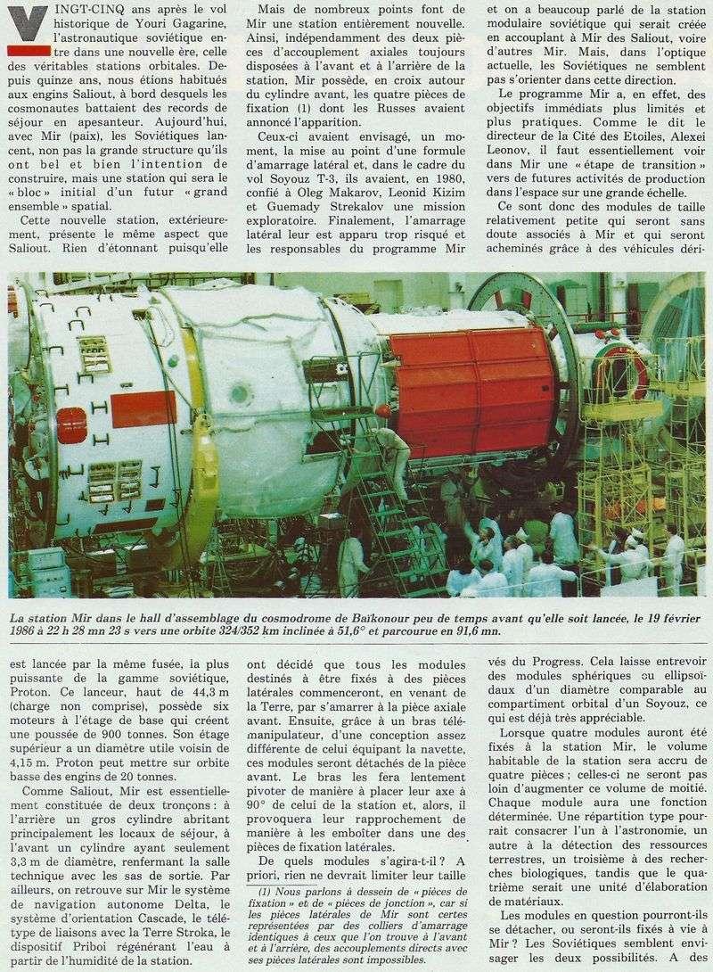 19 février 1986 - Station Spatiale MIR 86050011
