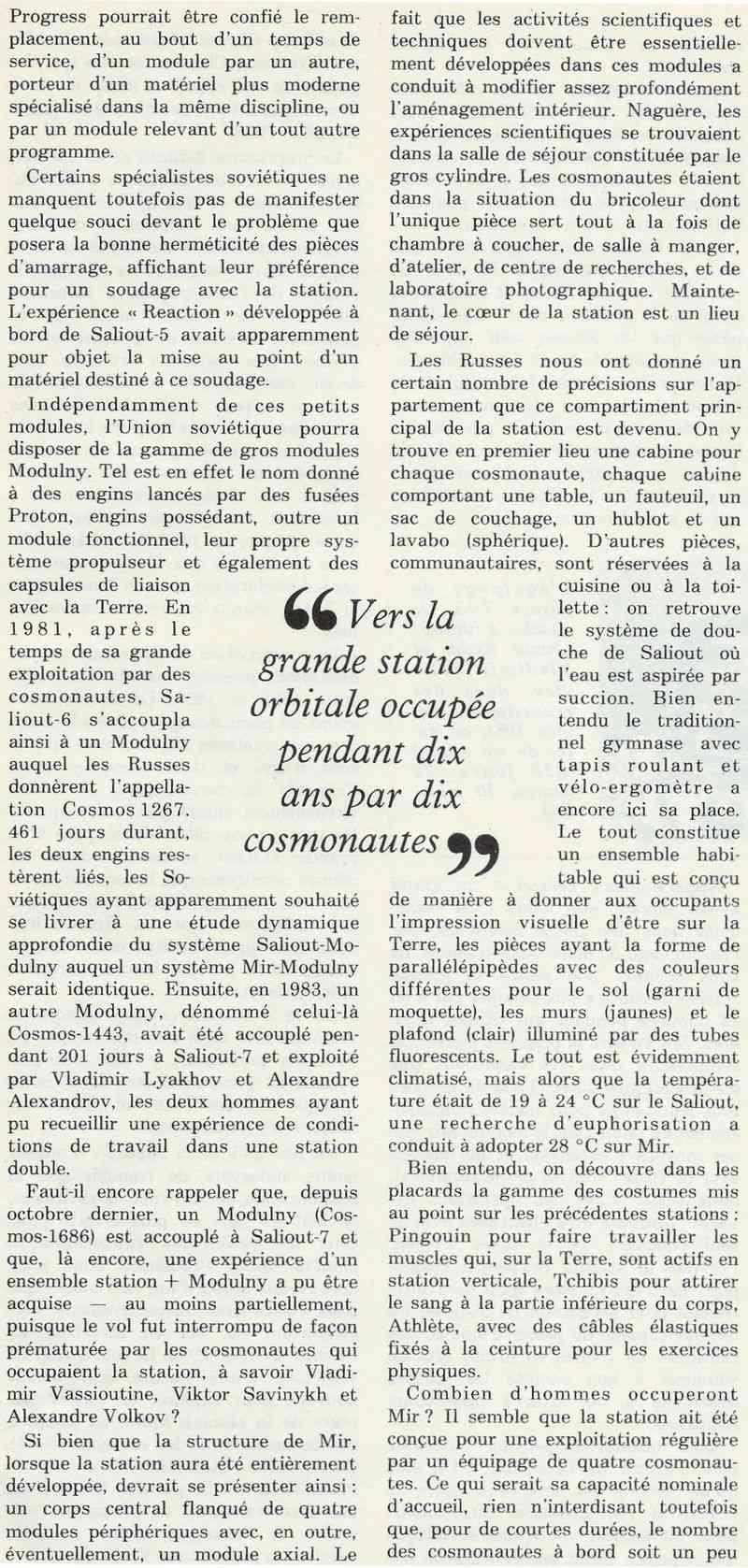 19 février 1986 - Station Spatiale MIR 86050012