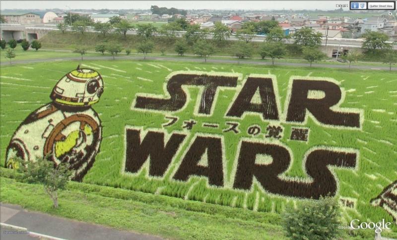 STREET VIEW : Star wars dessin avec du riz Kuroishi Japon S110