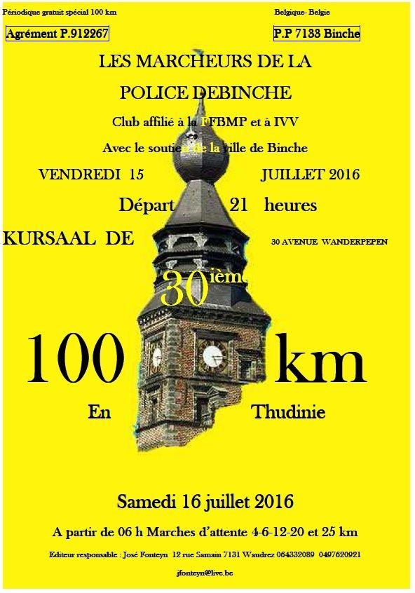 30ème 100km en Thudinie; Binche (B): 15 juillet 2016 Binche10