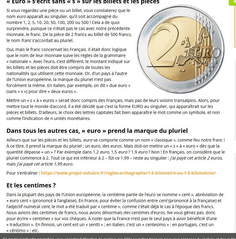 On écrit deux Euro ou deux Euros ? Deux_e10